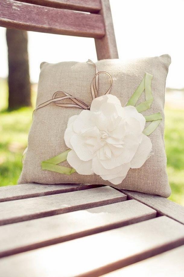 Burlap Upcycled Cushions