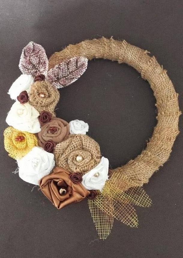 Burlap Wall Wreath