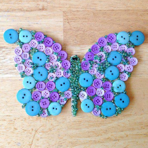 Butterfly with Buttons