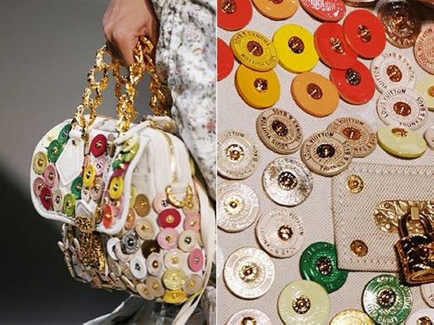 Buttons Decorated Bag