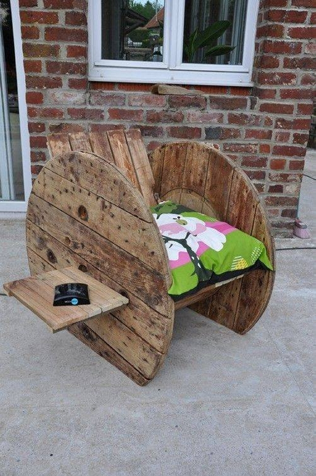 Cable Reel Recycled Patio Chair