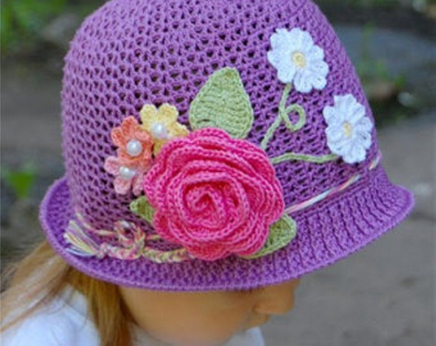 Patterns for Crochet Panama Girl Hats Upcycle Art