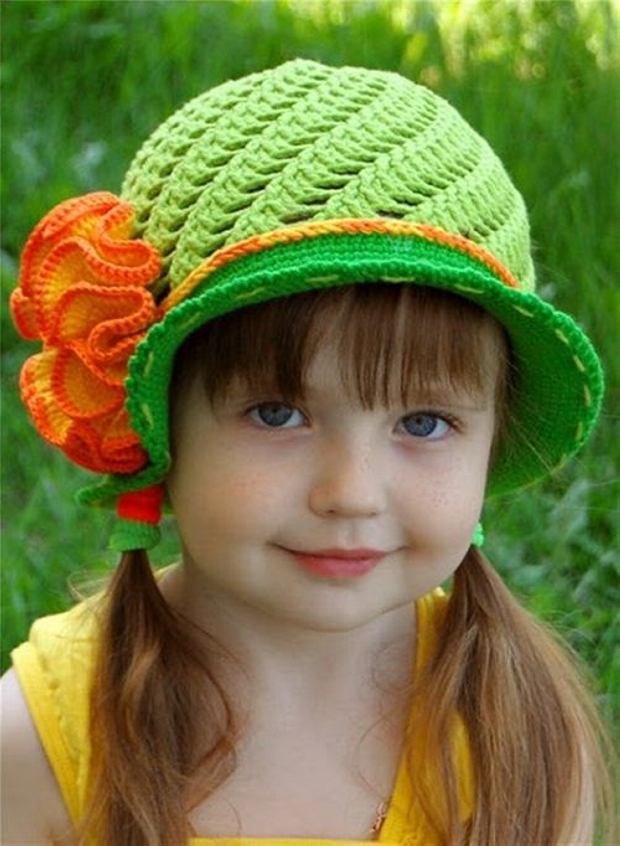 Crochet Panama Girl Hats