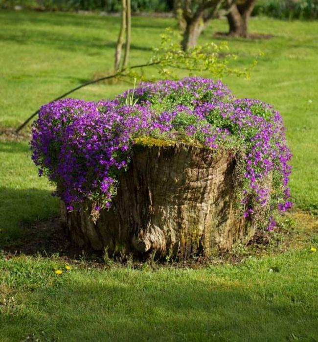 Decor Planter with Log