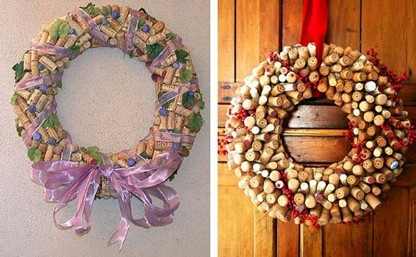 Decorative Wine Cork Wreath Craft