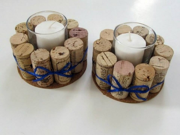 Decorative Wine Stopper Candles