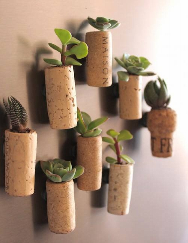 Decorative Wine Stopper Wall Planters