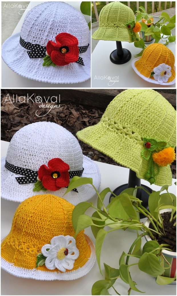 Designs for Crochet Panama Girl Hats