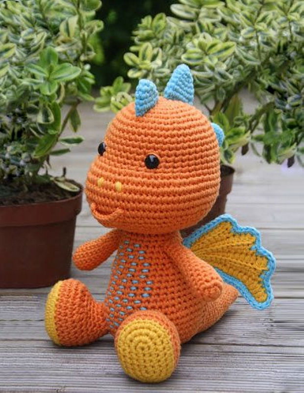 Amigurumi Dragon Wings Pattern : Amigurumi Crochet Patterns / Designs Upcycle Art