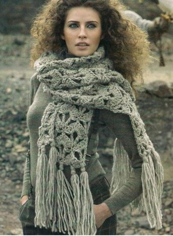 Echarpe Crochet Scarf