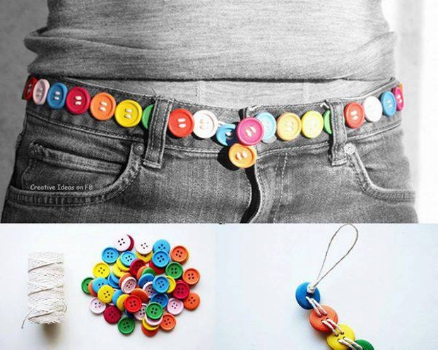 Fashion Belt with Buttons