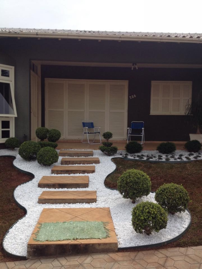 Garden Decorated Pathway