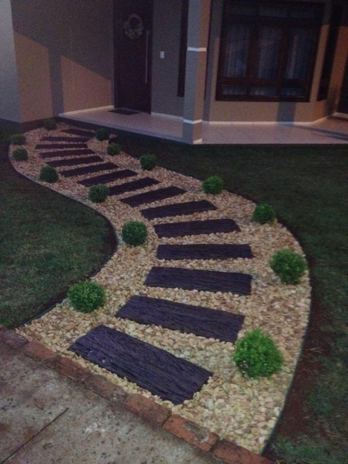 Garden Decoration with Pathway