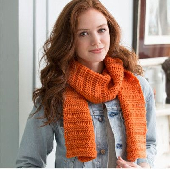 Garter Drop-Stitch Scarf