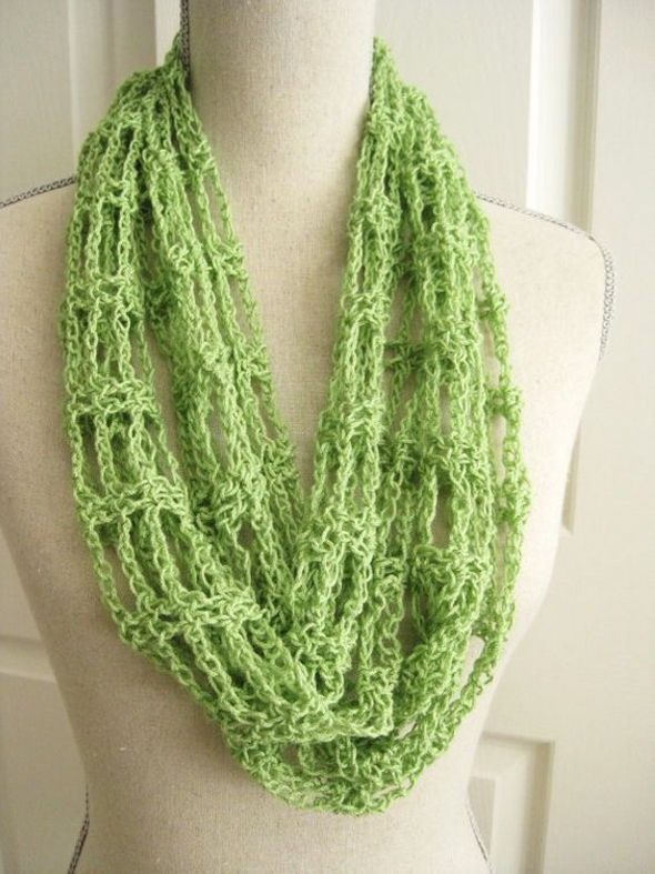 Lacy Cowl Scarf Crocheted
