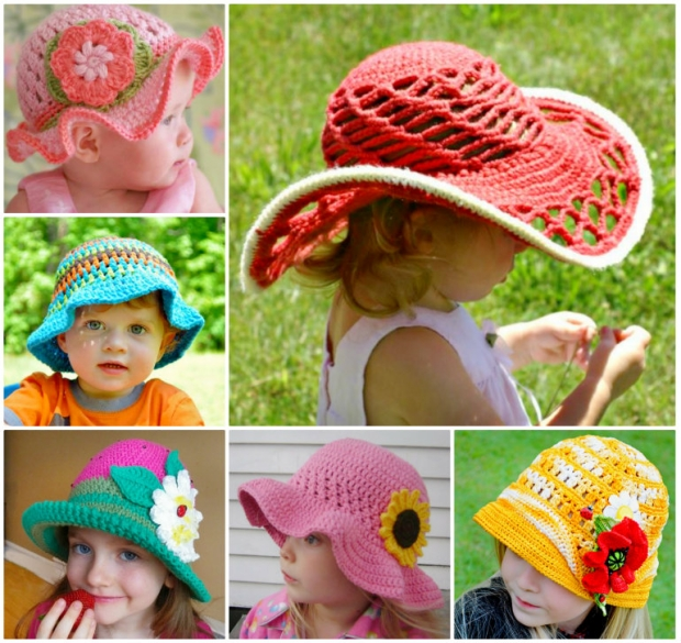 Patterns for Crochet Panama Girl Hats