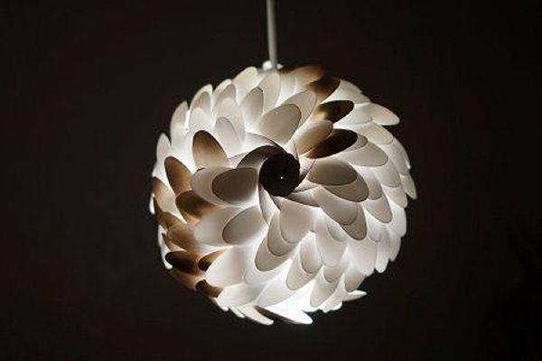 Plastic Spoons Lamp