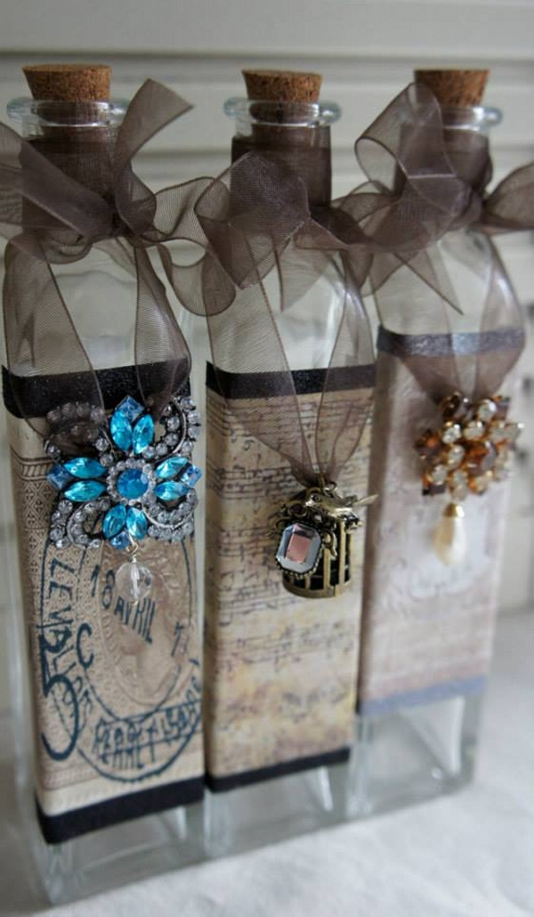 Recycled Decorated Glass Bottles
