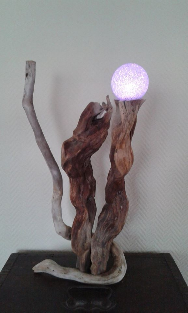 Recycled Driftwood Lamp Ideas