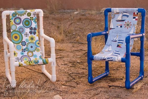 Recycled PVC Pipe Chairs