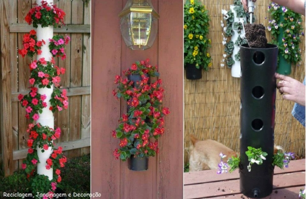 Recycled PVC Pipe Garden Decor