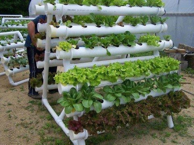 Recycled PVC Pipe Hanging Planter