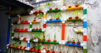 Recycled PVC Pipe Wall Planters
