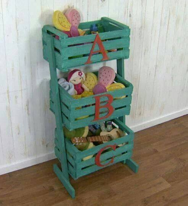 Recycled Wood Pallet Crates Shelves