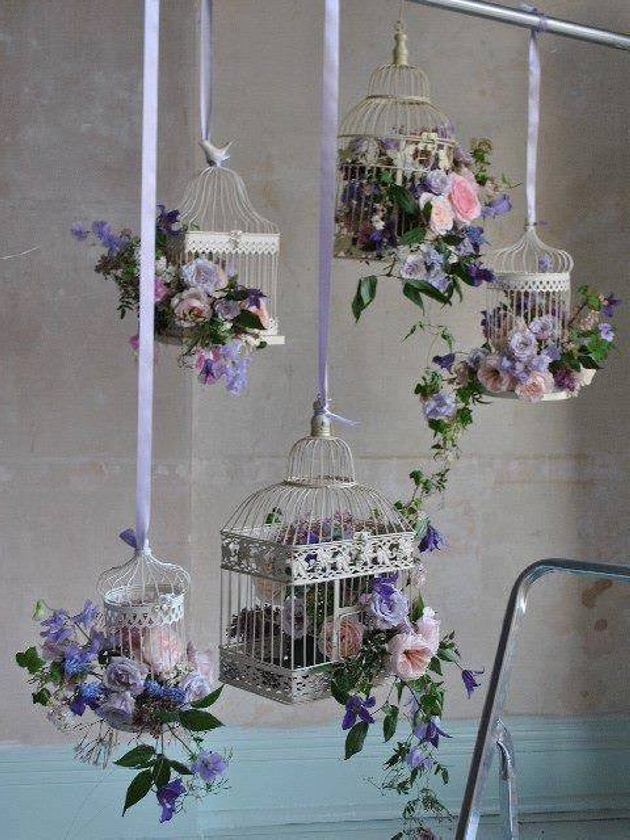 Repurposed Cage Hanging Decoration