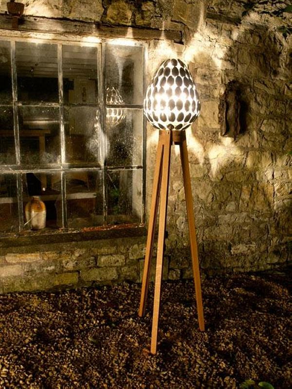 Repurposed Plastic Spoons Lamp