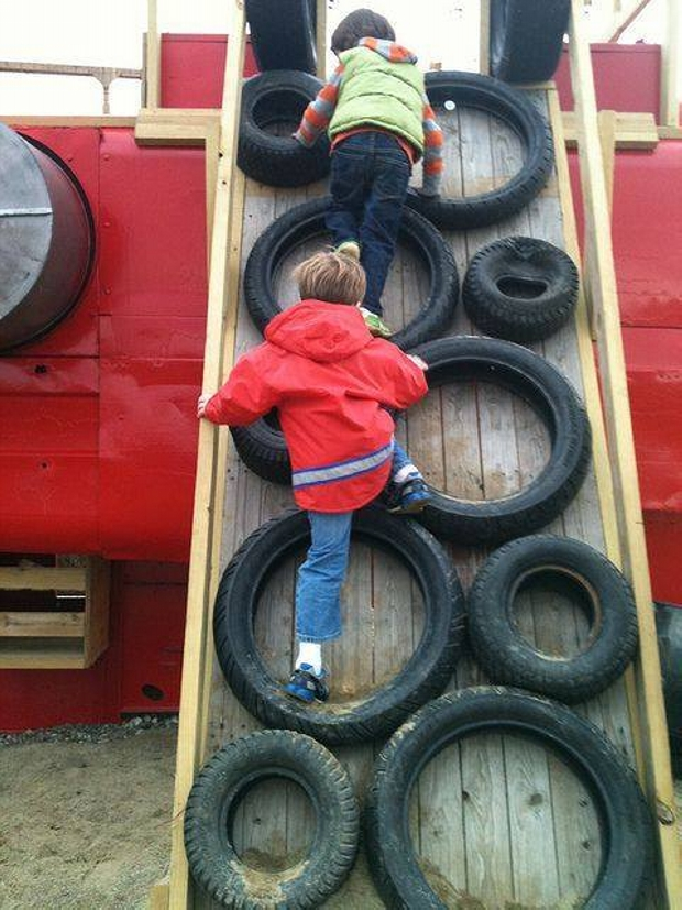Upcycled Used Tyres Kids Fun