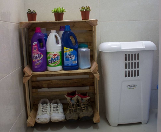 Upcycled Wood Pallet Crates Shelves
