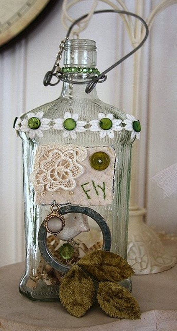Used Bottles Decoration