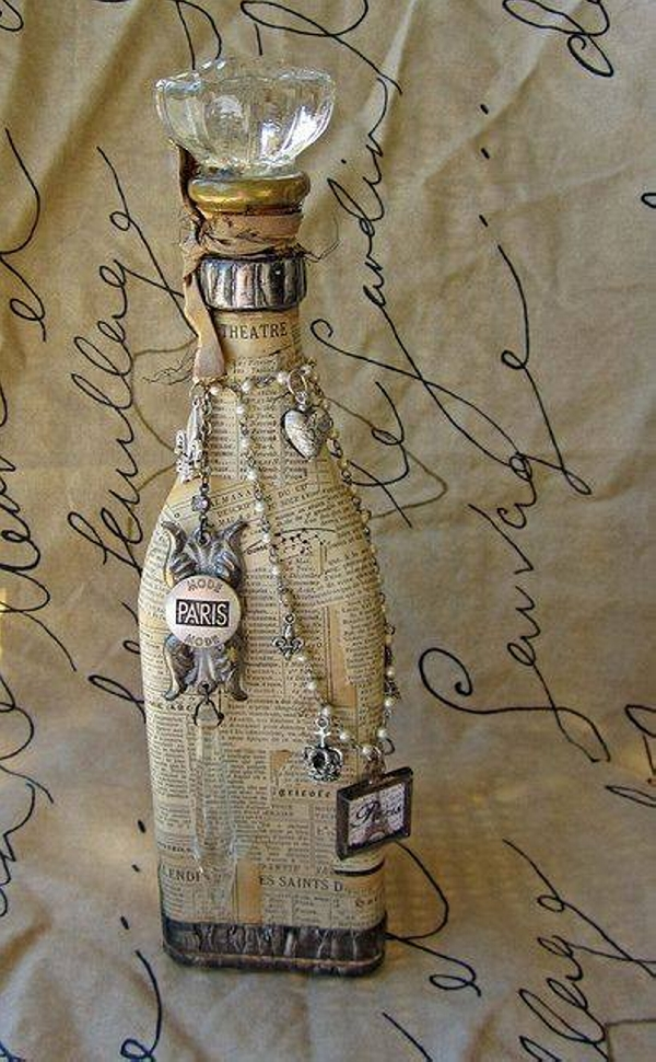 Used Bottles Upcycled Decor