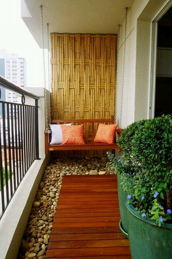 balcony decor with swing