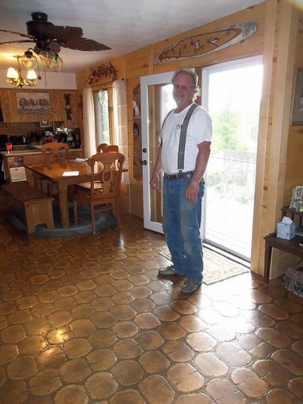 cool cordwood flooring