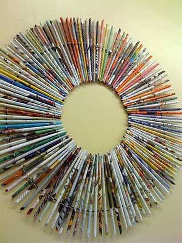 magazines recycled crown