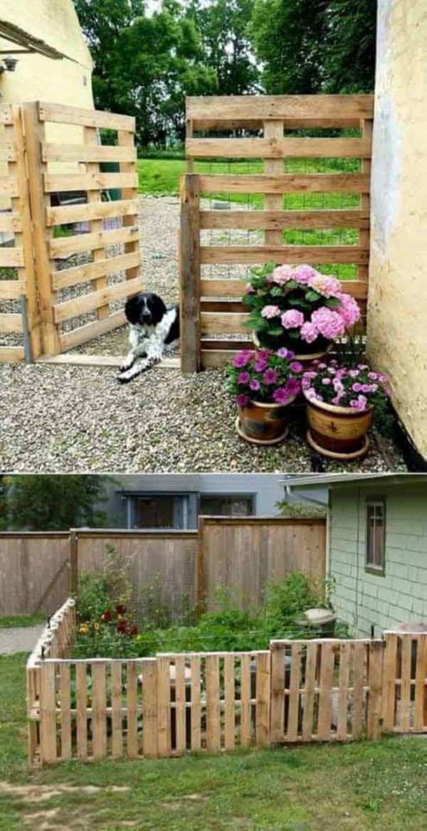 pallet gate and fence idea