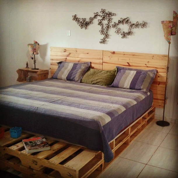 stunning pallet bed with headboard