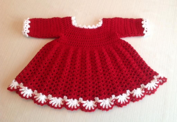 Free Crochet Baby Dress Patterns Easy : Crochet Baby Dress Patterns for Free Upcycle Art