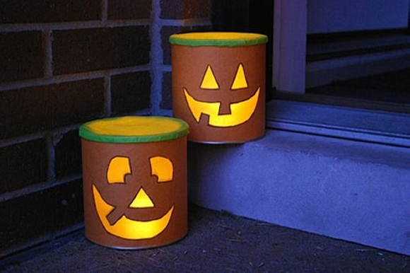 Halloween Tin Can Lantern Crafts