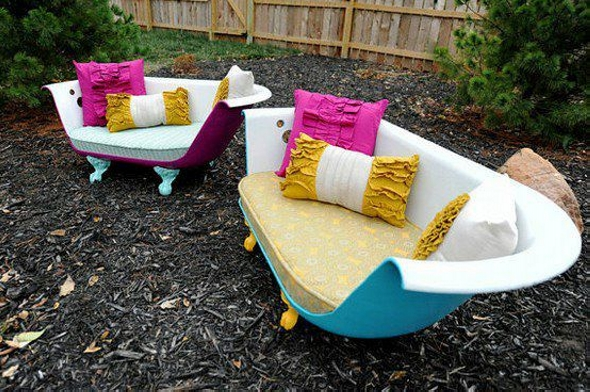 Old Bathtubs Recycled Furniture