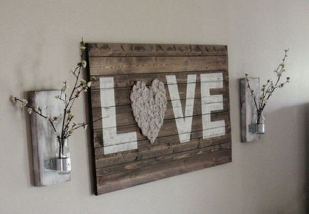 Pallet Love Word Wall Art