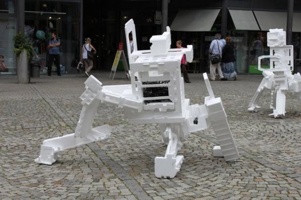 Recycled Styrofoam Robots