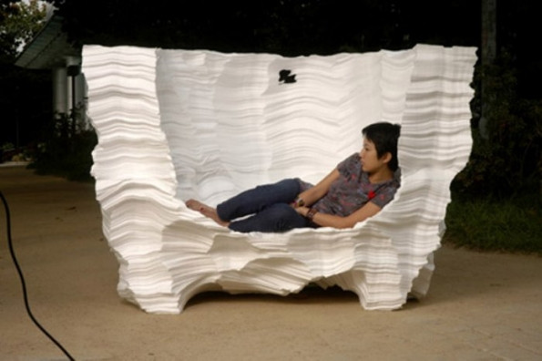 Styrofoam furniture sculptures