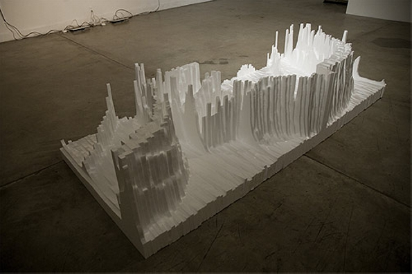 Styrofoam sculptures