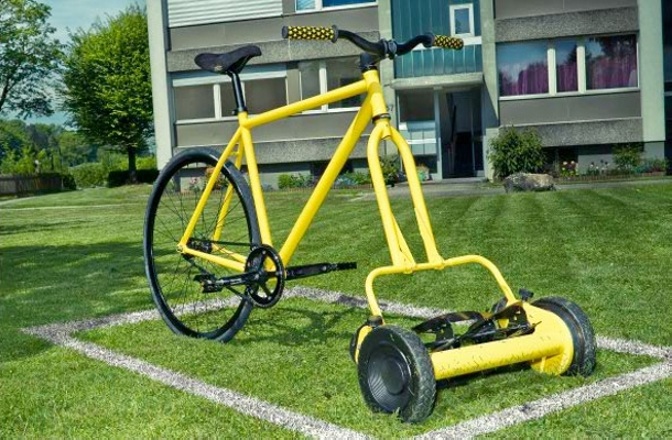 Upcycled Bike Mower Ideas