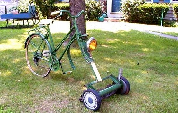 Upcycled Bike Mower