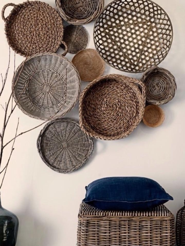 Wall Decor Ideas With Baskets Upcycle Art