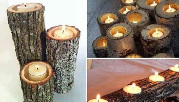 cordwood candles